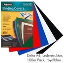 FELLOWES Deckblatt A4 Lederstruktur 100 Stk blau