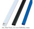 FELLOWES Klemmschiene Relido A4, 50er Pack, 3 - 6 mm Füllhöhe, weiss
