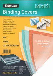 FELLOWES PVC-Deckblatt transparent A4, 100er Pack, 200 mic