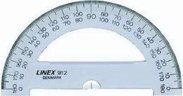 LINEX S0761400 912 Halbkreis-Winkelmesser 180° mit 1/2° Teilung, 12.5 cm.