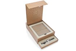PARKER S1935165 Geschenkset INGENUITY BLACK RUBBER & METAL C.C. mit Notizbuch