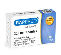 Rapesco S11661Z3 26/6mm verzinkte Heftklammern - 1.000 Stück