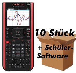 TI-Nspire CX II-T CAS 10P Grafikrechner Lehrerpaket DEU / FRA / ENG 10er Pack