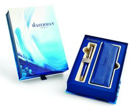 WATERMAN 1955313 Geschenkset EXPERT DELUXE BLUE Kugelschreiber (M)